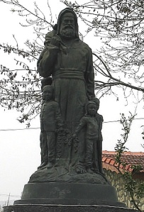 Saint Nicholas, depicted in a statue at Demre