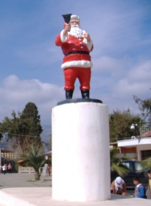 The plastic Santa Claus of Demre