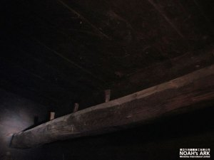 A beam with pegs attached to it