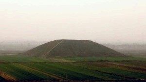 A Chinese tomb mound at Xianyang, Shaanxi province