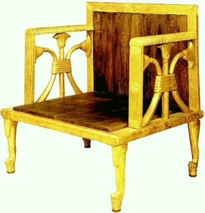 Chair from the cache of Hetepheres's funerary furniture