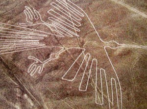 Geoglyph depicting a hummingbird, Nazca