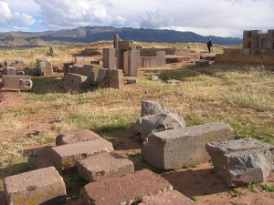 Scattered masonry at Pumapunku