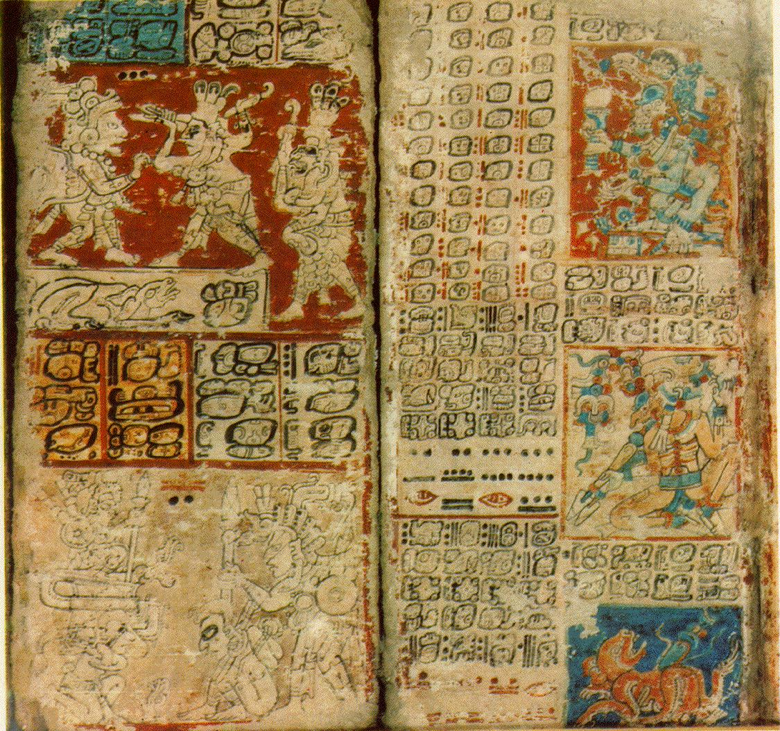 page from the Dresden Codex, one of only four Maya books to survive ...