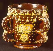 A slipware cup