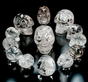 The thirteen crystal skulls