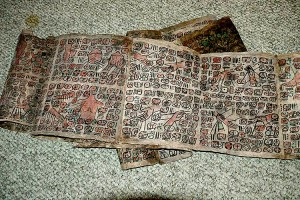 A photograph of one of the alleged newly discovered Maya codices