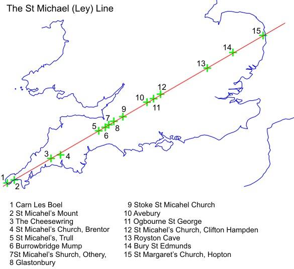 Znalezione obrazy dla zapytania st michael's ley line