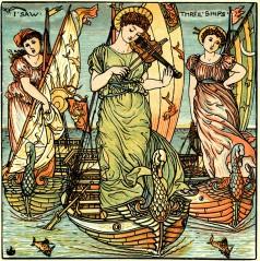Walter Crane's I Saw Three Ships, 1900
