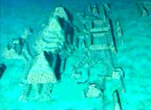 Underwater pyramids west of Cuba