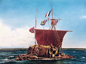 Kon-Tiki, the balsa wood raft that carried six men from Chile to Easter Island in 1947