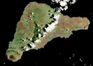 Satellite view of Rapa Nui
