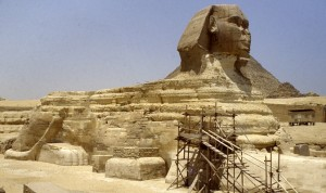 The Great Sphinx at Giza in 1988