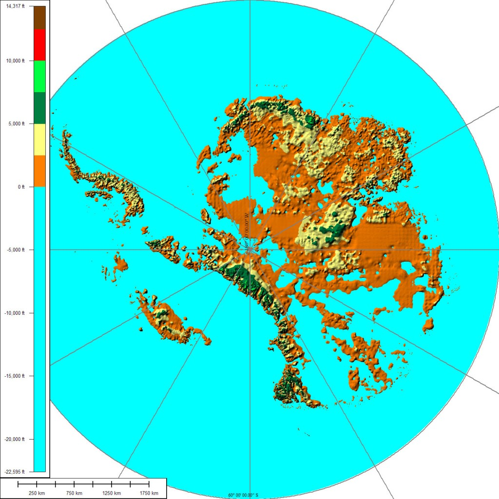 A more recent view of the sub-glacial topography of Antarctica
