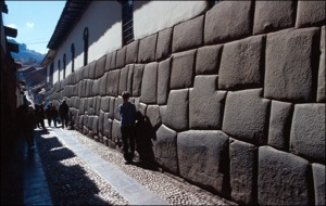 Typical Inka masonry in Cuzco