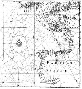 "Edward Wright's map ""for sailing to the Isles of Azores"""