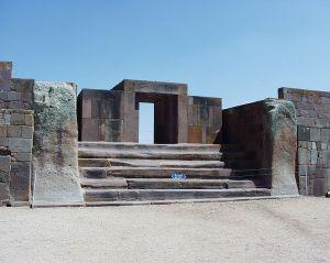 The monumental eastern entrance to the Kalasasaya