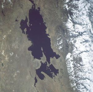 Lake Titicaca seen from space