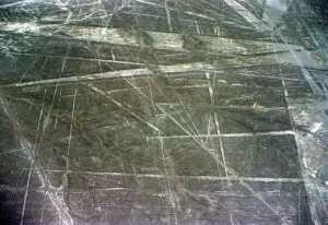 The Nazca Lines, seen from the air, are a jumbled mess (Source)