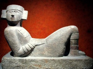 A chacmool from Chichen Itzá